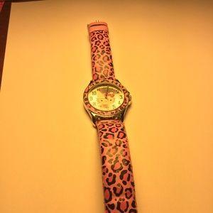 Hello Kitty pink Leopard Watch
